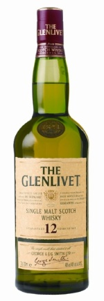 """A bottle of The Glenlivet, 12 Years Old, as it was labeled and sold in the mid-2000s around the time """"Kaisha"""" was produced."""