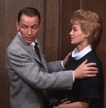 Frank Sinatra and Angie Dickinson in Ocean's Eleven (1960)