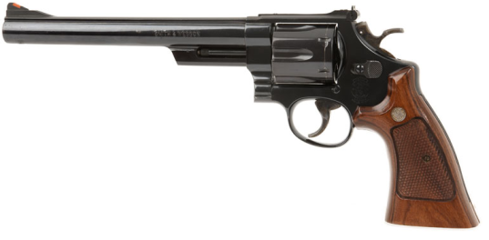A Smith & Wesson Model 29 with the barrel, as carried by Clint Eastwood in Dirty Harry.