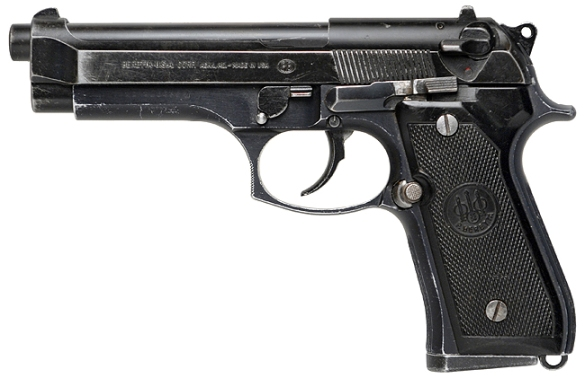 Courtesy of IMFDB, this is the actual Beretta as used by Bruce Willis in the second and third Die Hard films. Although a 92FS and not his original 92F, it also has the extended releases for left-handed Willis.