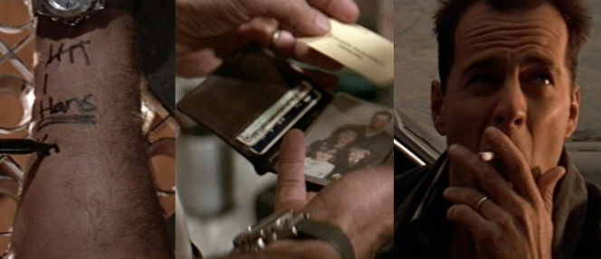 The McClane essentials: cigarettes, Sharpie, wallet, and watch.