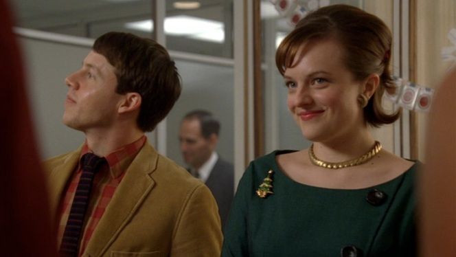 Peggy Olson and her awkward boyfriend Mark