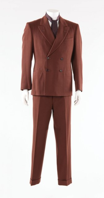 The actual suit worn by Depp in Public Enemies.