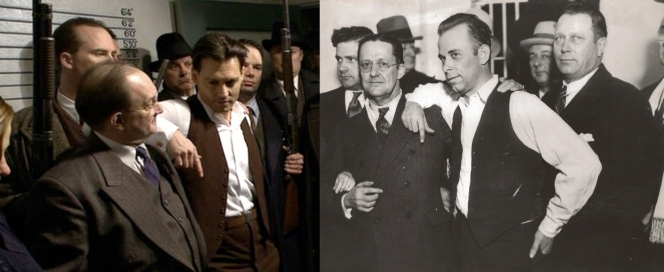 After he was brought to Crown Point prison, Dillinger was questioned by reporters. During the press conference, Dillinger infamously stood with his arm on prosecutor Robert Estill's shoulder while coolly answering questions about some of his crimes.