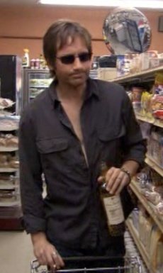David Duchovny as Hank Moody during the first season of Californication.