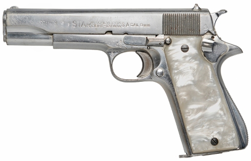 The actual 9x19 mm Star Model B used by Samuel L. Jackson in Pulp Fiction, as found on IMFDB.