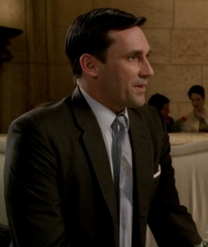 Jon Hamm as Don Draper during the second season premiere of Mad Men.