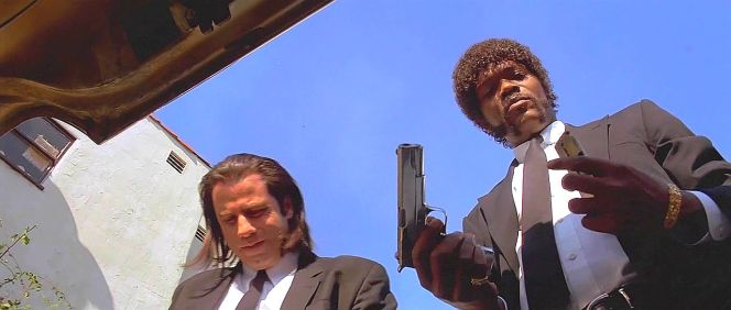 The scene just wouldn't have been the same if they DID have shotguns (for that kind of deal).