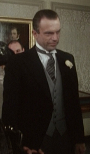 "Sam Neill as Sidney Reilly on his final wedding day in Reilly: Ace of Spies (Episode: ""The Last Journey"")"