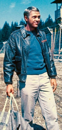 Steve McQueen as the unflappable Capt. Hilts in The Great Escape