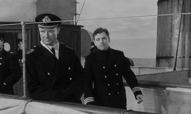 Lightoller joins Captain Rostron on the Carpathia the morning following their rescue.