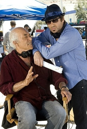 Mark Margolis joins David Duchovny in a production photo from