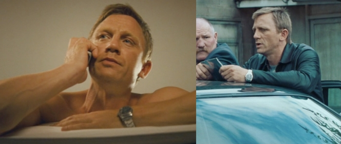 Any idea what sort of watch he's sporting? As this is pre-Bond, I think we can rule out Omega.