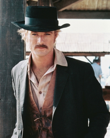 """Robert Redford in Bolivia as """"The Sundance Kid"""" in Butch Cassidy and the Sundance Kid."""
