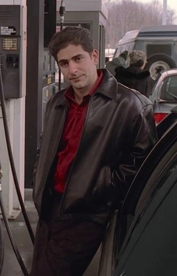 """Michael Imperioli as Christopher Moltisanti in """"Pine Barrens"""", the eleventh episode of the third season of The Sopranos."""