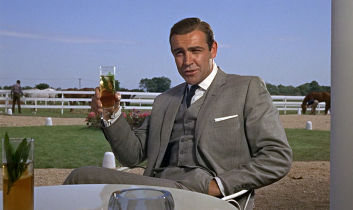james bond�s iconic goldfinger suit bamf style