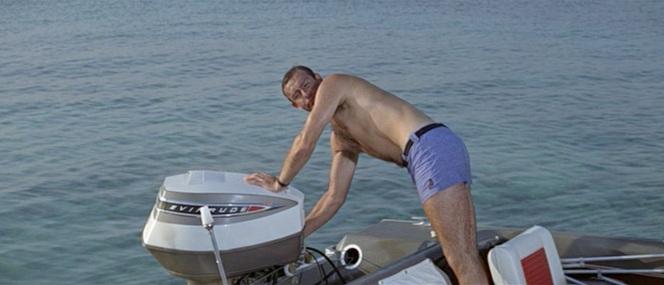 Commander Bond at sea.