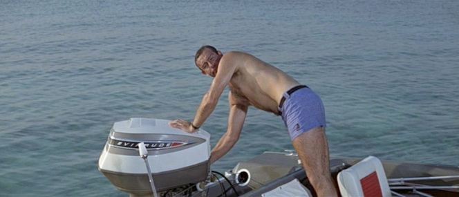Commander Bond at sea.