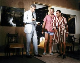 Rik Van Nutter, Sean Connery, and Bill Cummings in Thunderball (1965)