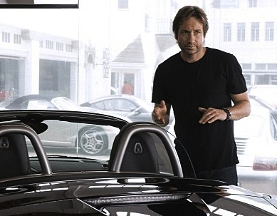 David Duchovny goes car shopping as Hank Moody in