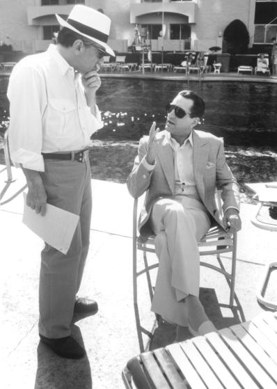 Two immortals: Scorsese and De Niro, poolside in Vegas.