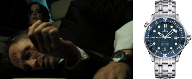 The shot we get of Bond's watch isn't that flattering, either.