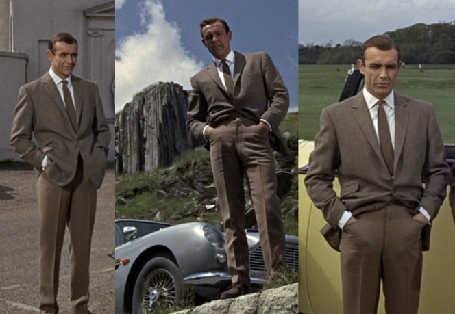 I never noticed how often Connery's Bond kept his hands in his pockets.