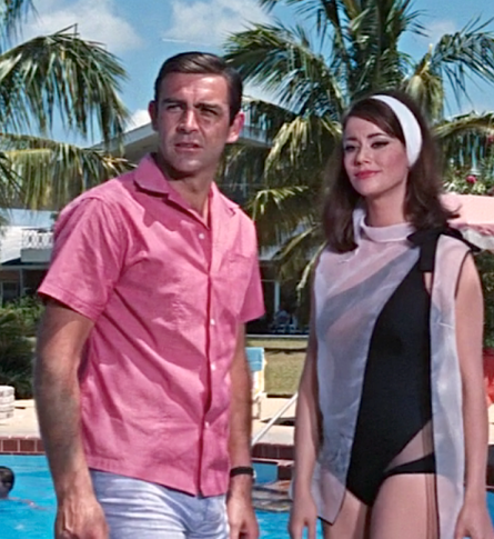 Sean Connery and Claudine Auger in Thunderball.