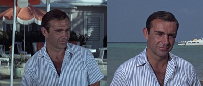 Bond may spend 40% of Thunderball underwater, but he also spends 40% of it squinting while above water. The other 20% he probably spends in bed with various women.