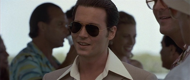 Dark-lensed aviators are also great for sleeping your way through boring conversations, though I can't imagine meeting the boss of a statewide crime family qualifies as a boring conversation.