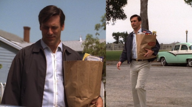 Don Draper shops at Ralph's! Or at least Dick Whitman does.