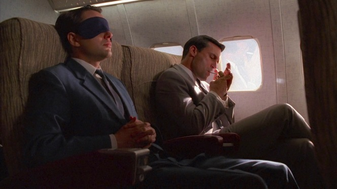 Pete and Don behave exactly as you'd expect Pete and Don to behave on a flight.