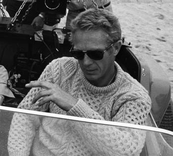 Steve McQueen during production of The Thomas Crown Affair (1968)