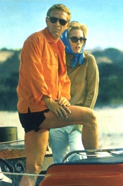 Steve McQueen and Faye Dunaway in The Thomas Crown Affair.