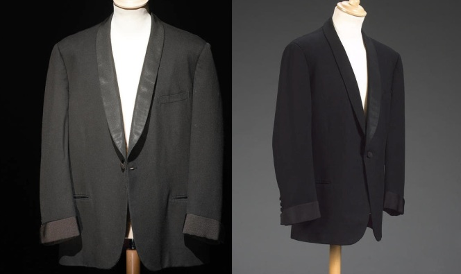 Images of the jacket from the Bonhams site. Note the post-Bond gauntlet cuffs.