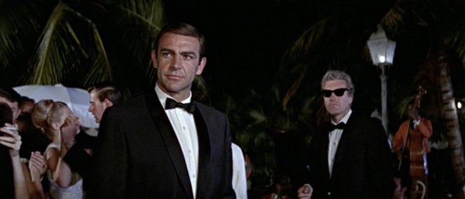 And in the film, Felix wore sunglasses at night with black tie because this makes no fucking sense at all.