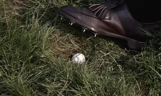 Bond must have felt bad that he couldn't damage the ball while stepping on it with metal cleats, but all Oddjob had to do was squeeze it with one hand. I get why he was intimidated.