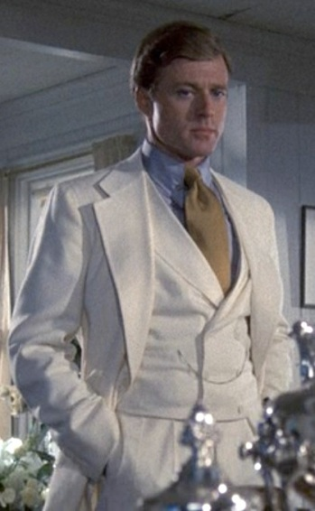 Robert Redford as Jay Gatsby in 1974's The Great Gatsby.