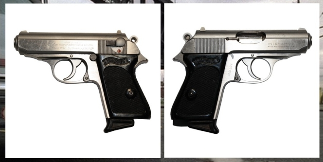 Photos of the actual pistol used by Imperioli while filming in Kearny. Thanks, Golden Closet!