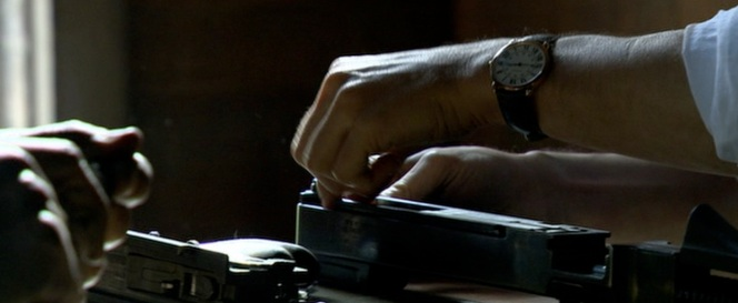 Dillinger's watch. If this is product placement, I can't tell what the product is supposed to be.