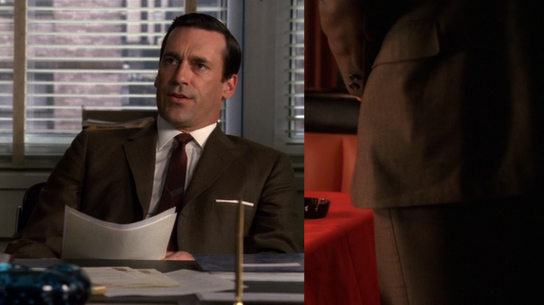 Autumn on Mad Men – Draper's Brown Suit in Season 2   BAMF Style