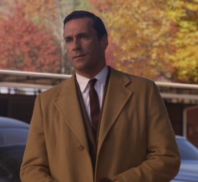 Jon Hamm as Don Draper in the second season finale of Mad Men.