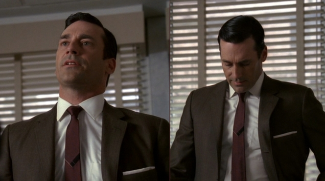 "A solid maroon tie would probably also work for the look, but that subtle design in the middle says ""Fuck you, I'm Don Draper"" so..."