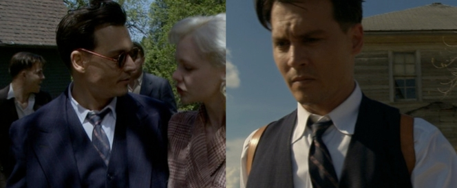 Dillinger's tie is just right for charming some whores AND having a brief moment of introspection.