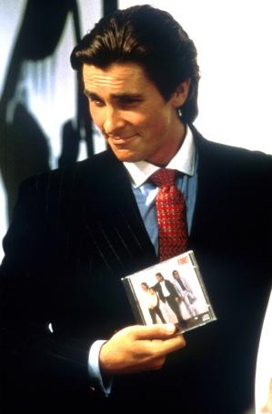 Christian Bale as Huey Lewis fan Patrick Bateman in American Psycho.