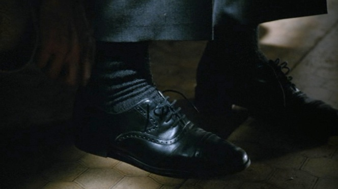 Bourne leaves no doubt about what he's wearing on his feet.