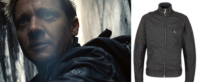 Belstaff's distinctive logo is present, but not distracting, on the film jacket.