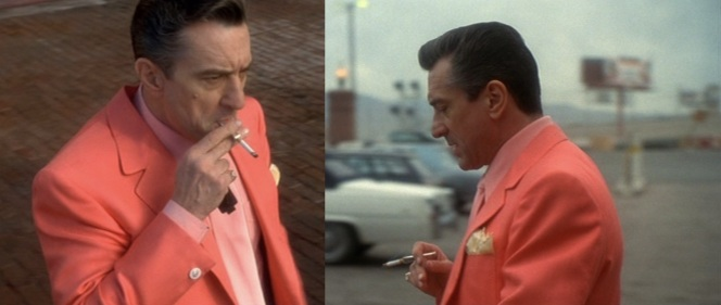 It helps to look badass when you're grimacing and cynically chain-smoking. Yes, even when wearing a pink blazer.