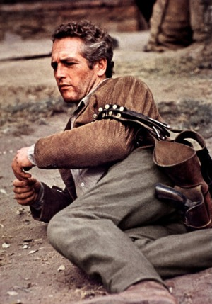 Only a guy like Butch could find time to relax in the middle of a gunfight.