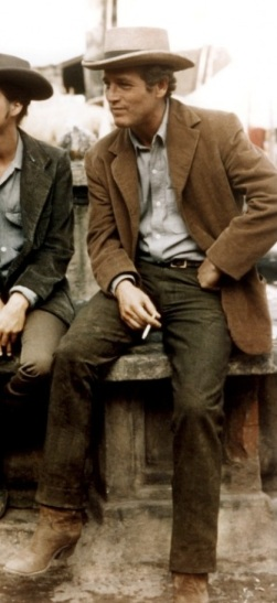 Paul Newman as Butch Cassidy in Butch Cassidy and the Sundance Kid.